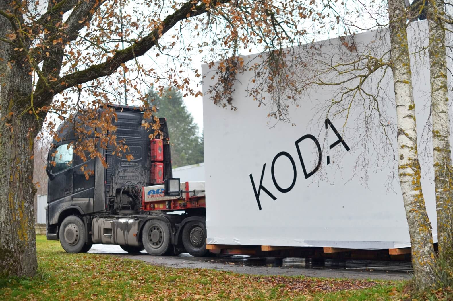 KODA on a trailer
